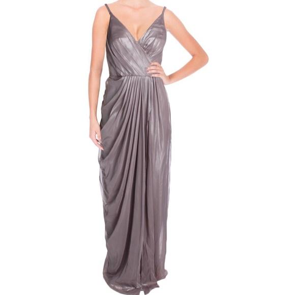 505c02e50483 Vera Wang Dresses | Metallic Chiffon Gown | Poshmark